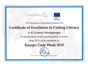 Certificato eccellenza coding092