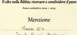 """Concorso Nazionale """"Il cibo nella Bibbia"""" classe terza Scuola Primaria Montegiorgio/Cap"""