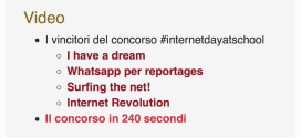 CONCORSO MIUR INTERNET DAY