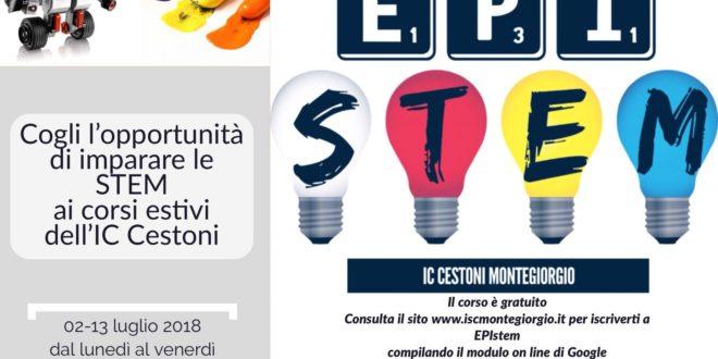 """""""IN ESTATE SI IMPARANO LE STEM, II EDIZIONE"""": EPIstem 02-13 Luglio 2018"""
