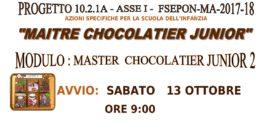 """PON – COMPETENZE DI BASE: AVVIO MODULO """"MAITRE CHOCOLATIER JUNIOR 2"""""""